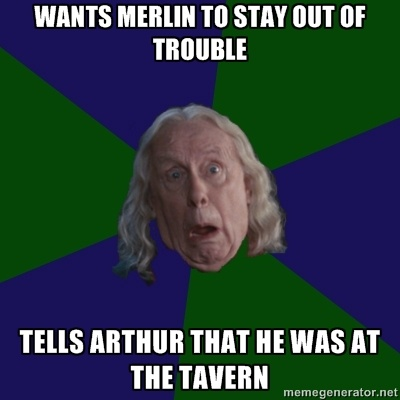 perpetually perturbed gaius...you'll only understand this if you watch Merlin.