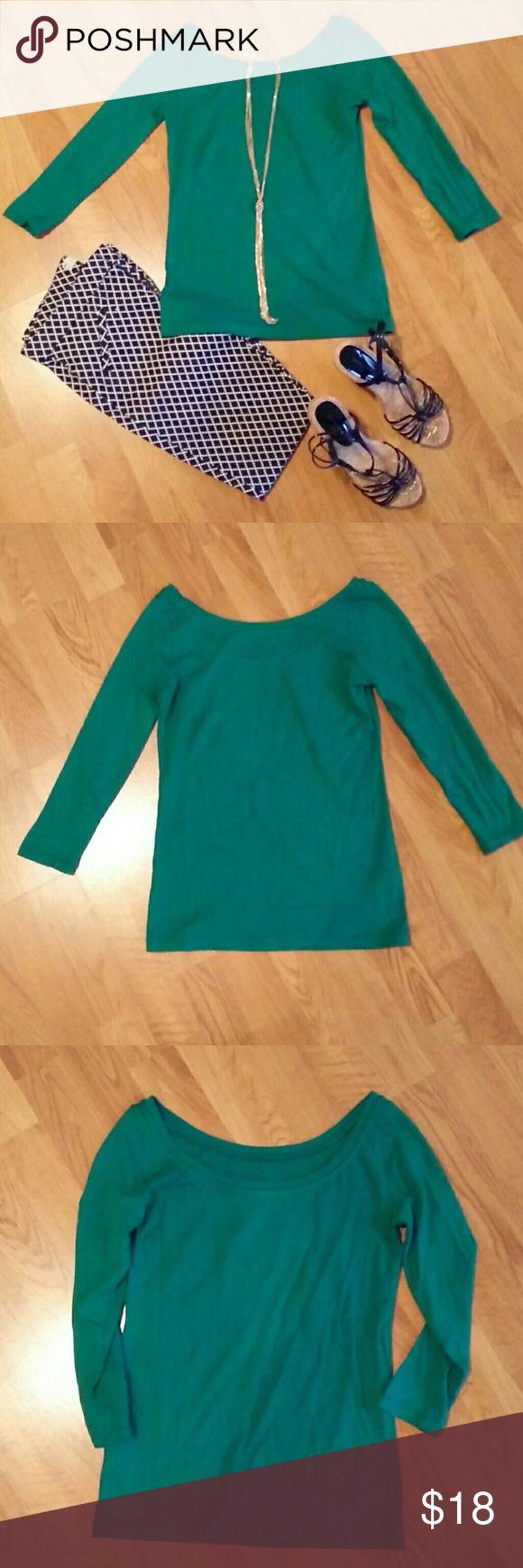 J Crew scoop neck ballet t-shirt Scoop neck, quarter length sleeves, J crew Tops