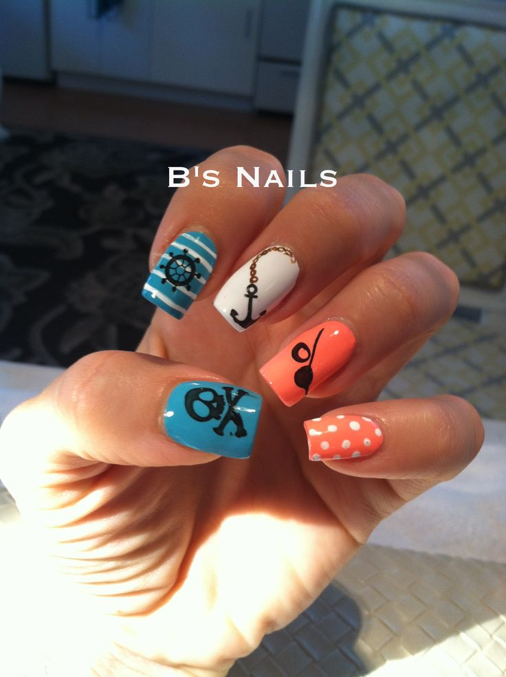 Pirate nail art. B's Nails