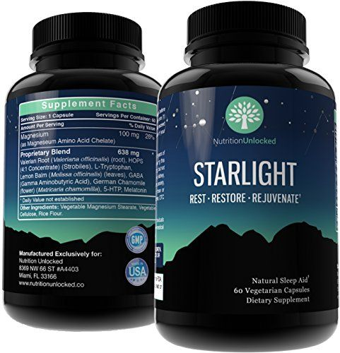 Natural Sleep Aid  Effective Safe Guaranteed  STARLIGHT Serenity Aids Deep Sleep  OTC Sleeping Pills for Adults  Herbal Insomnia Relief Supplement with Valerian Melatonin Tryptophan GABA * You can find out more details at the link of the image.