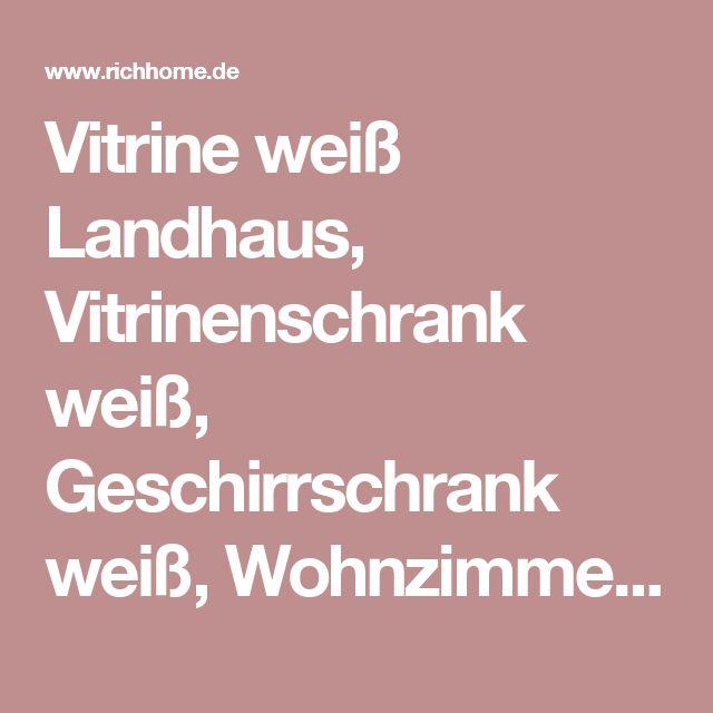 Vitrine weiß Landhaus, Vitrinenschrank weiß, Geschirrschrank weiß, Wohnzimmerschrank  Landhausstil, Breite 272 cm - Vitrinen & Geschirrschränke  - Landhaus Style - Möbel