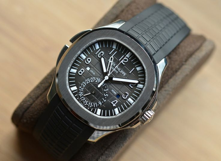 The Patek Philippe Aquanaut Travel Time with a Tiffany dial. Just damn. $36,000.