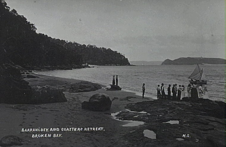 View from Coasters Retreat (The Basin) to Barrenjoey c.1910 - just before my grandmother moved there!