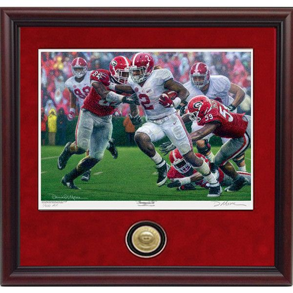 8x10 Collegiate Classic Edition Print. Ships within 7-10 Business Days. In the 1st release in the 2015 Championship Season Collection, Daniel A. Moore's newest masterwork in oils featuring Derrick Hen