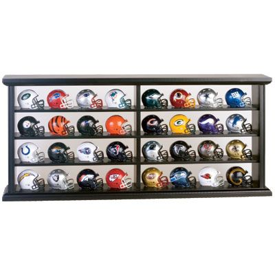 NFL Helmets With Display Case (Miniature)  $99.95  Calling All Monday  Morning Quarterbacks