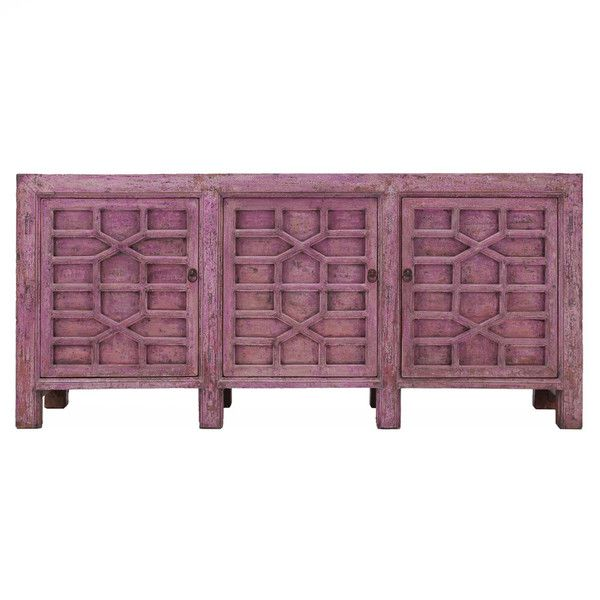 Antique Rustic Pink Buffet 3 doors www.theimporter.co.nz