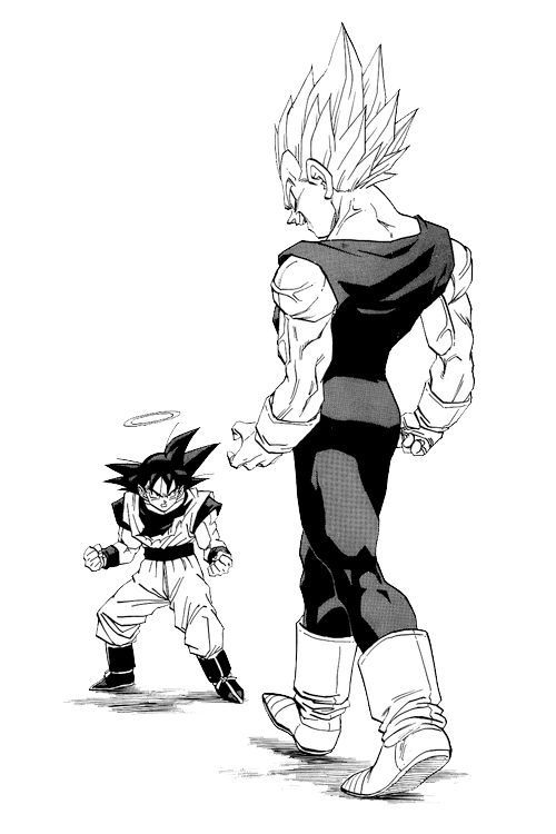 Dragon Ball Z Anime Characters Database : Goku vs majin vegeta anime manga pinterest