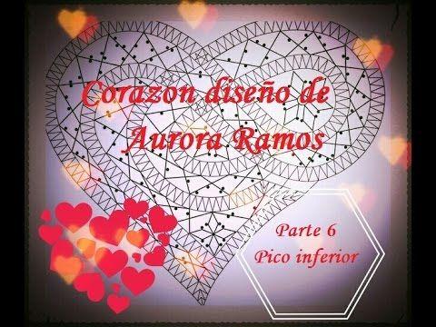 Bolillos: Corazon diseño de Aurora Ramos Parte 6