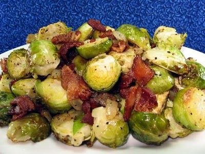 Found on Coleen's Recipes: SIDE DISHES. Brussel sprouts.  I might try this on my family this thanksgiving.