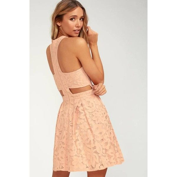 7d0c57c978 ... liked  official photos 4a984 8d73a Lulus Daisy Date Blush Pink Lace  Skater Dress (66) ❤  reputable site 14e29 606b8 Little White Dresses ...