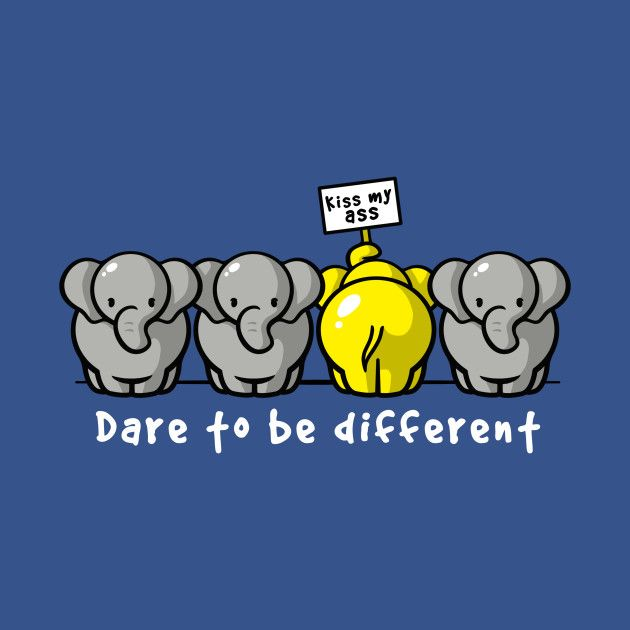Check out this awesome 'Dare+to+be+different' design on @TeePublic!