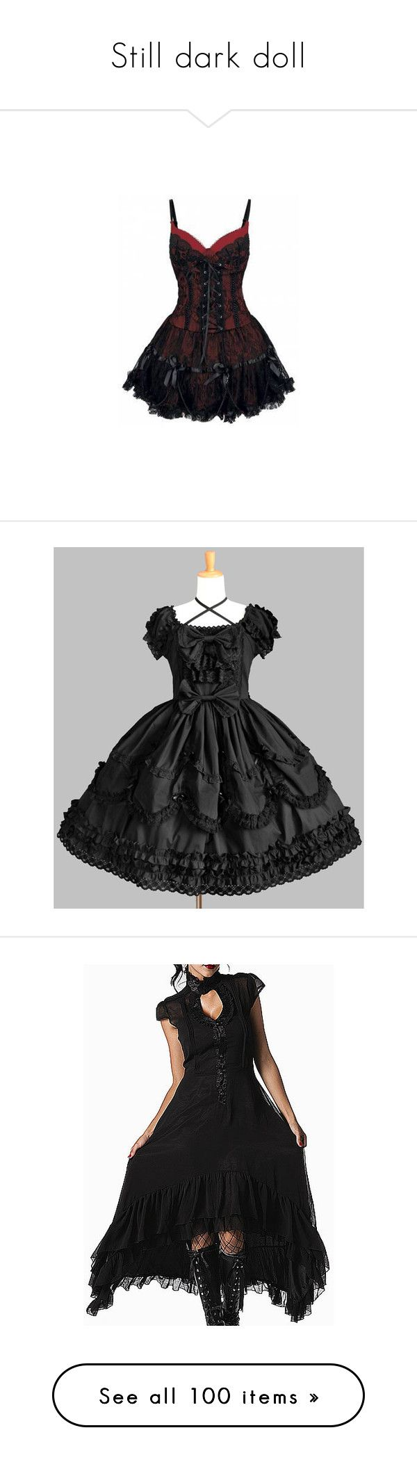 """Still dark doll"" by huntress-of-artemis ❤ liked on Polyvore featuring dresses, vestidos, short dresses, corsets, corset mini dress, gothic clothing dresses, goth corset, metal corset, lolita and gothic"