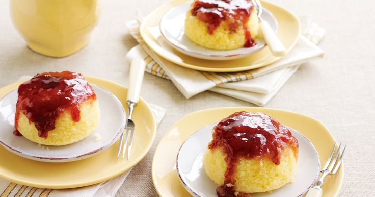 These divine sponge puds are just right for a special Sunday brunch, high tea or after-dinner treat.