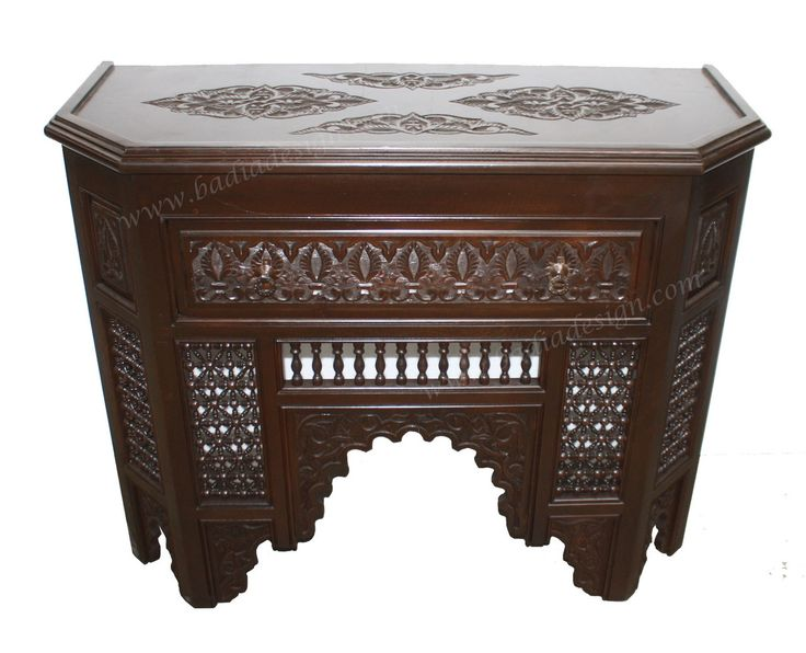 Dark Stained Hand Carved Wooden Cabinet - CW-CA049, Cabinet, wooden cabinet, carved wood cabinet, dark stained cabinet, Moroccan furniture, Moroccan, Morocco,  (http://www.badiadesign.com/moroccan-dark-stained-wooden-cabinet-cw-ca049/)