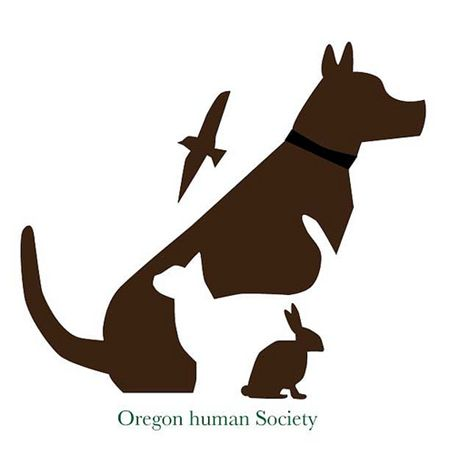 oregon human society negative space logos