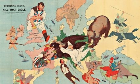 Maps from five different centuries go on display at huge London fair - including propaganda maps from WW1