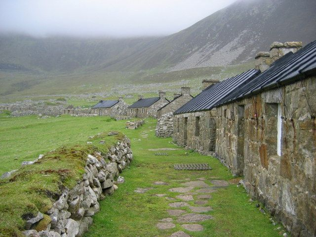 SCOTLAND - Hirta, St. Kilda, Hebrides Islands, Scotland. Abandoned in the 1930's, Recently mapped by Scottish Heritage Project. See You Tube.