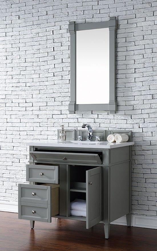 james martin brittany single 36inch bathroom vanity urban gray
