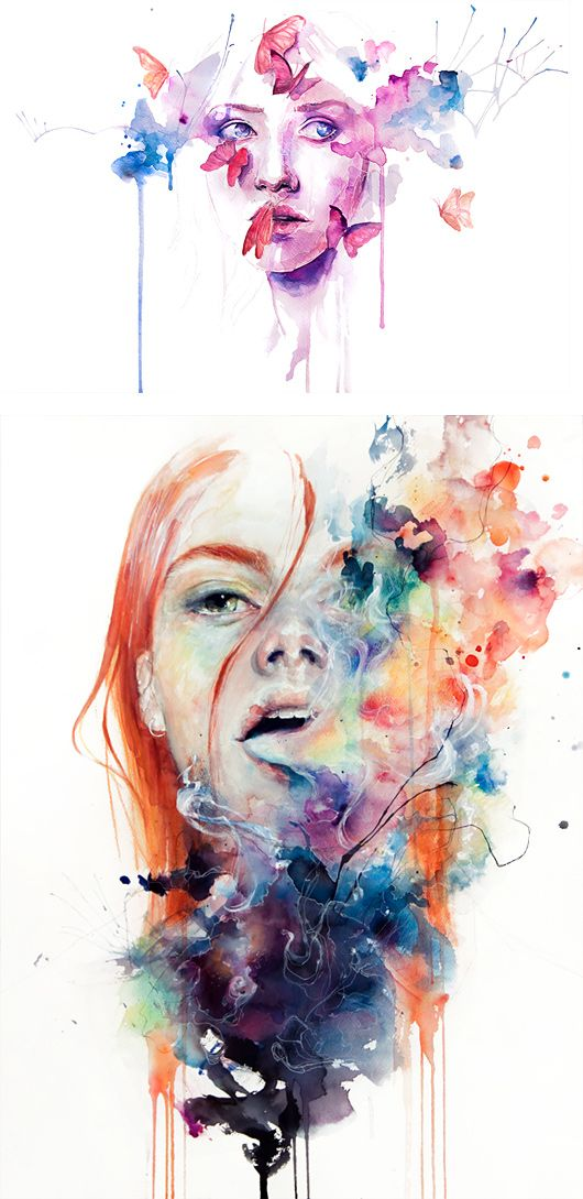 Paintings by Silvia Pelissero | Inspiration Grid | Design Inspiration I thought these were agnes cecile's or is it just me?