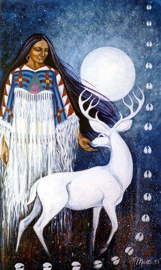 Esiste fra i Pueblo del Sudovest degli Usa una Signora degli Animali e cacciatrice molto interessante: è chiamata Donna Gialla e sembra impersonare la luna nuova. Come una delle signore dei punti cardinali, è Donna Gialla del Nord e il puma è il suo animale. A Cochiti è collegata alla pioggia, che tra i Pueblo è connessa agli animali cui si da la caccia e in particolare al cervo. E' anche guardiana della selvaggina. Come Luna Kochinako ha anche un ruolo importante in quanto moglie del Sole…