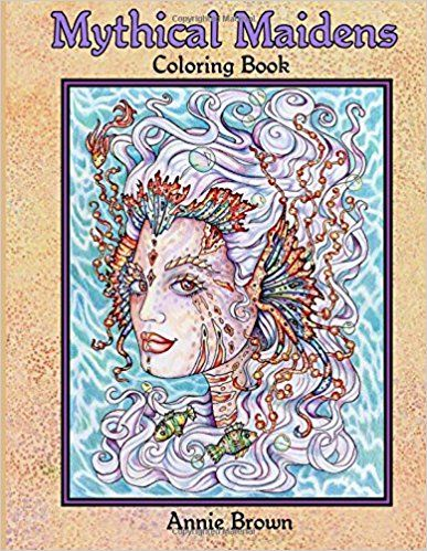 Mythical Maidens Coloring Book Volume 1 Snow Queen Flower Fairies Mermaids