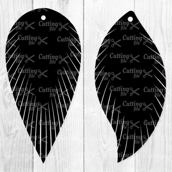 Feather Fringe Earring SVG PNG DXF Cut File | Renee ...