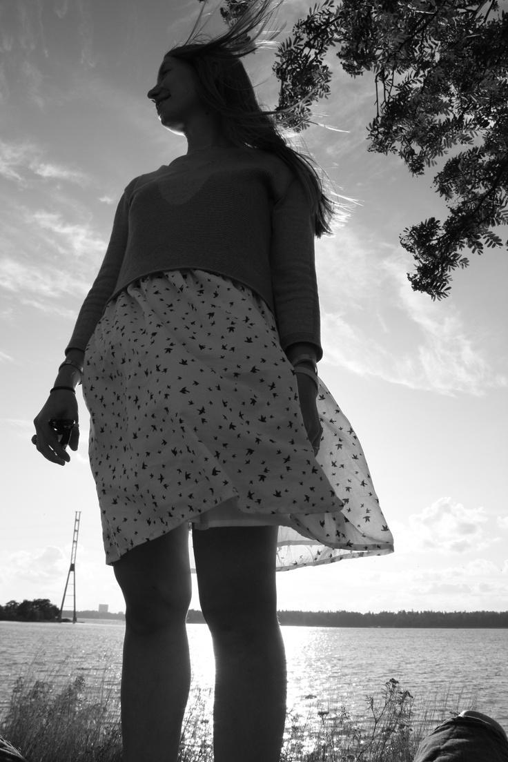 Dress; Samuji, Sweater; Month Of Sundays