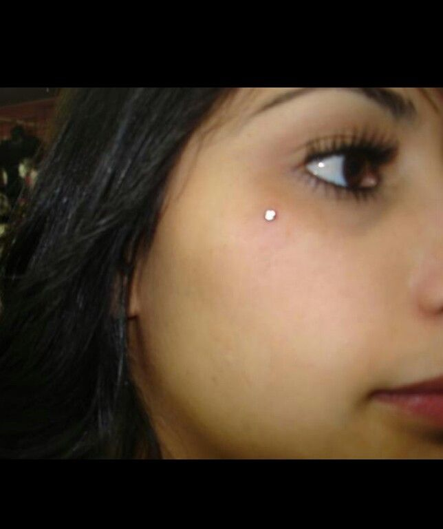 Microdermal facial piercing