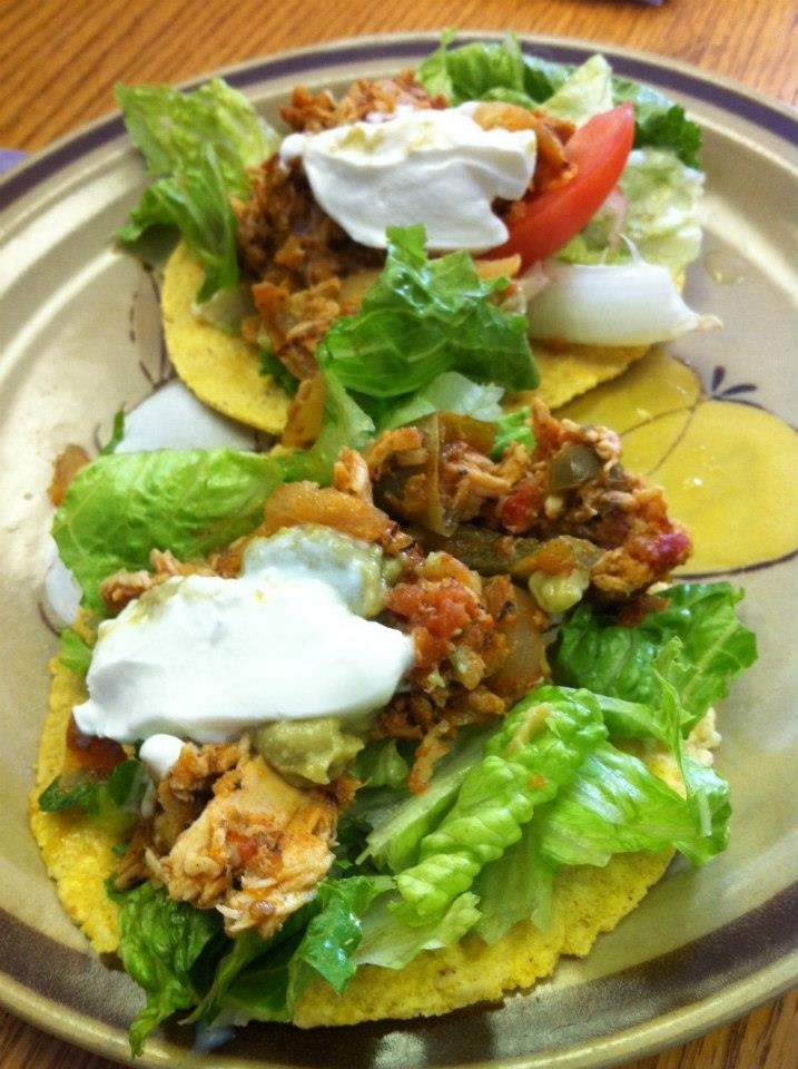 Healthy crock pot chicken tacos yummy clean recipes on fb for Chicken recipes in crock pot healthy