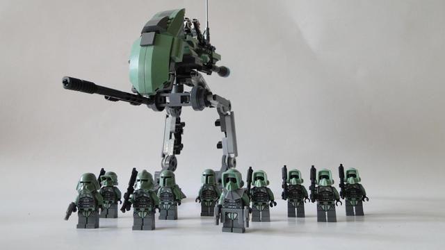 Lego Star Wars Kashyyyk Clone-Walker + Kashyyyk-Trooper UCS MOC