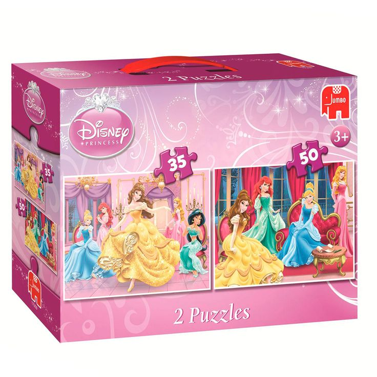 Leuke set van twee Disney Prinsessen puzzels van Jumbo met mooie afbeeldingen van Belle en de andere prinsessen.Afmeting: 31 x 22 cm - Disney Prinses Belle Puzzel 2in1