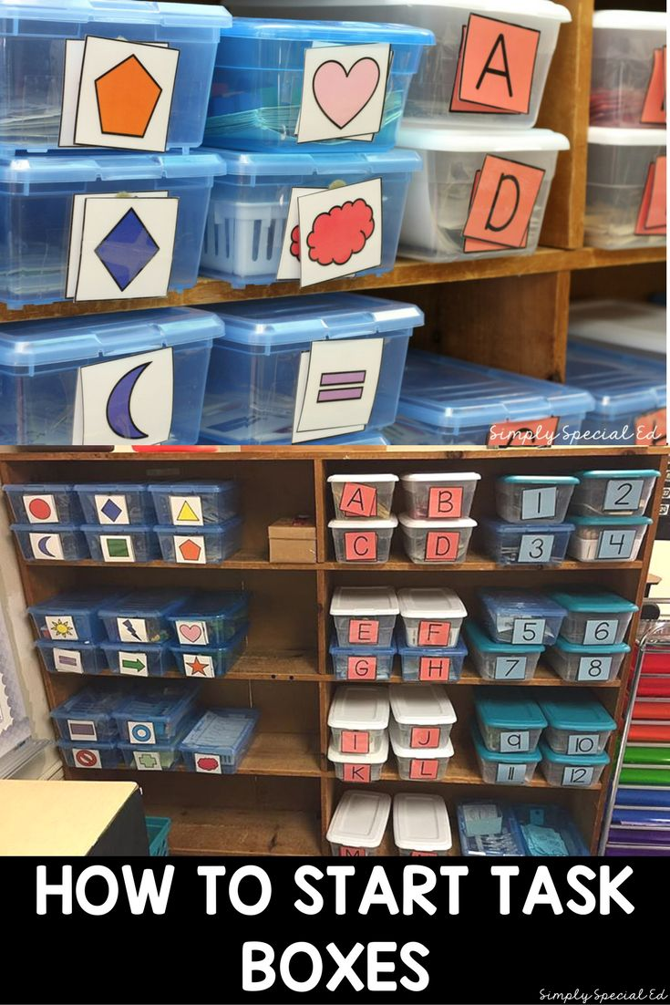 How to get started with a task box system for independent work in a special education classroom!