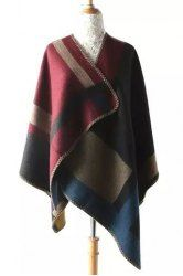 Trendy Color Block Warmth Pashmina For Women