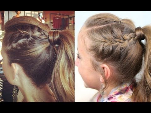 Double French into High Ponytail Tutorial {5-min} | by CuteGirlsHairstyles