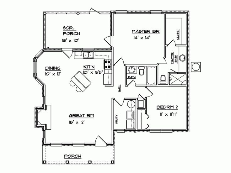 perfect sized floorplan