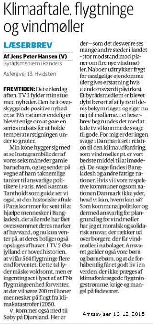 Ja - jeg blander mig i hvad der foregår i Norddjurs kommune. Klimaforandringer er en global udfordring, der kun kan dæmpes ved at vi alle yder hvad vi kan - også i Norddjurs (Beklager mangel på opdeling i afsnit - her har sættenissen vist været på spil).