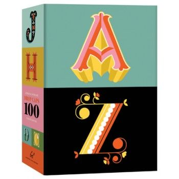 An A to Z of good design, this alphabetically oriented set of 100 postcards features the best hand-drawn letters from Daily Drop Cap, Jessica Hische's popular typography website. Bright colors and highly illustrative letters make a uniquely personal impression in the mail or on display as miniature monograms.