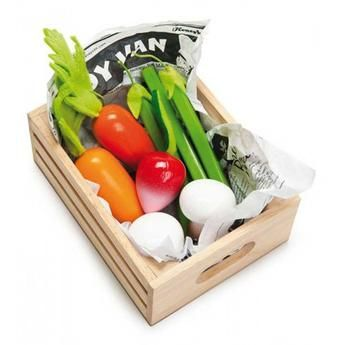 Le Toy Van Vegetables Five-A-Day Wooden Box