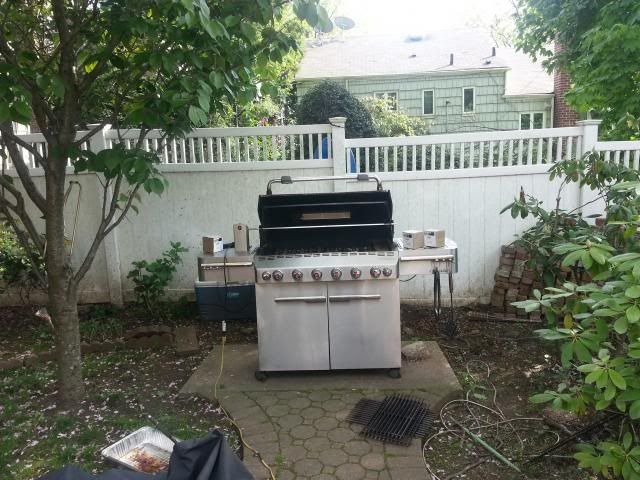 Idea For A Concrete Pad To Put A Grill On Bbq Area Ideas