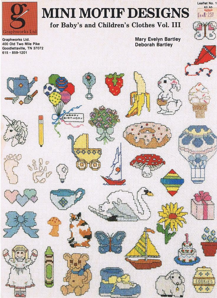 Counted Cross Stitch Mini Motif Designs Pattern Leaflet more at Recipins.com