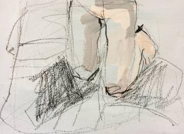 """Saatchi Art Artist Monica Bonzano; Painting, """"PORTRAIT OF HERSELF"""" #art"""