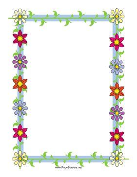 colorful page border. This floral border includes several brightly colored flowers straight from  the garden Free to download 155 best marcs p gina images on Pinterest Page borders Writing