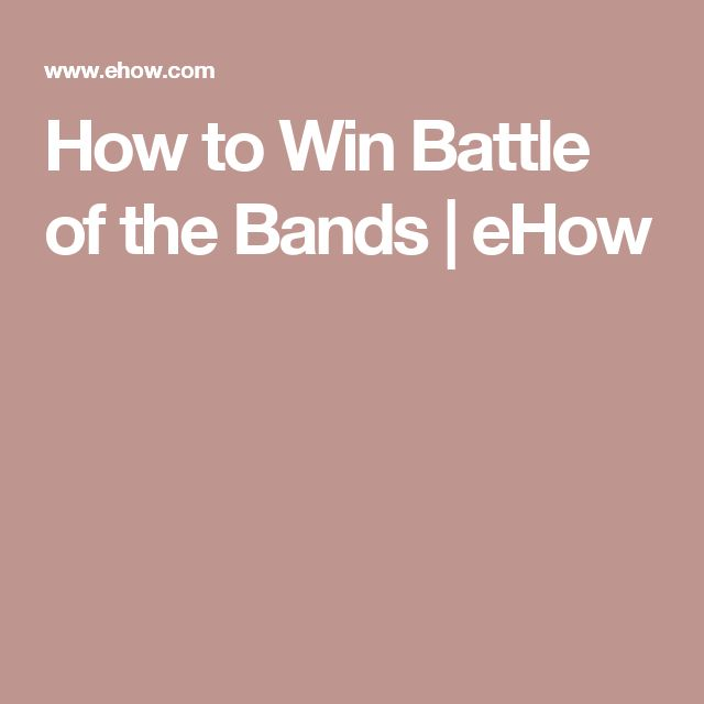 How to Win Battle of the Bands   eHow