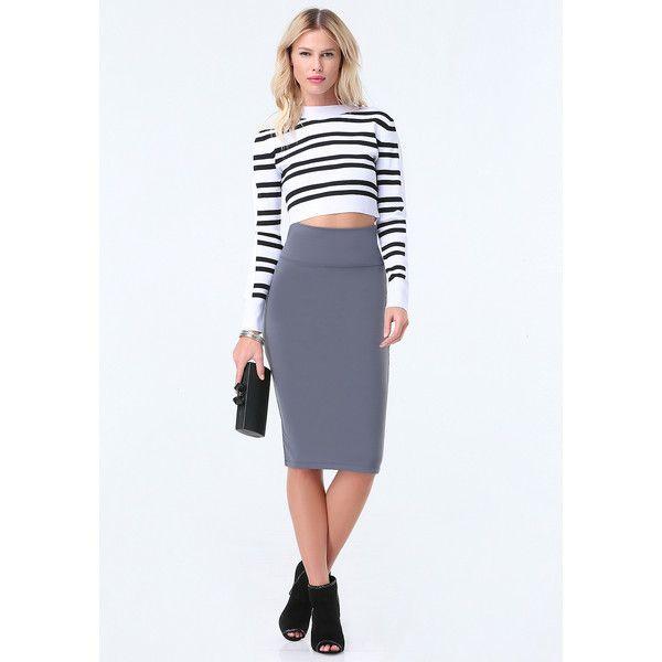 how to wear a mid calf length skirt