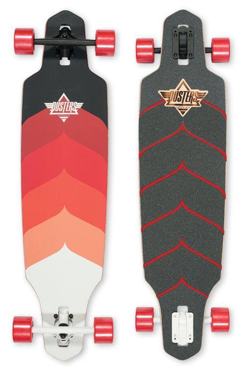 Dusters California | Longboards and Cruiser Skateboards | Wake +Kryptonics Red