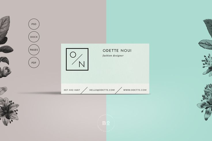 Clean Business Card Template by Botanica Paperie on @creativemarket