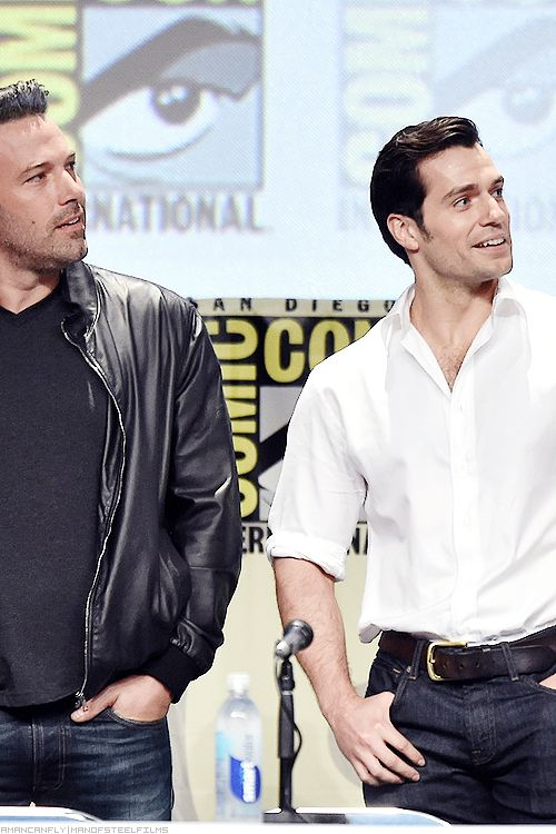 Henry Cavill and Ben Affleckduring the WB Pictures Panel at the 2014 SDCC, 26th July, San Diego, CA.