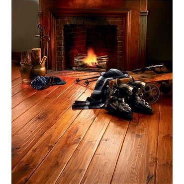 Copper Stained U0026 Lightly Distressed Wide Plank Hickory Flooring Copper  Stain Seems The Way ...