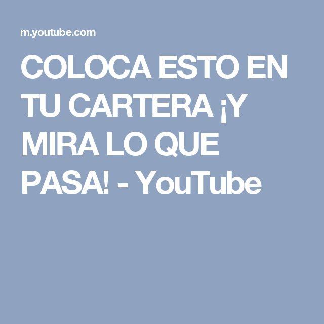 COLOCA ESTO EN TU CARTERA ¡Y MIRA LO QUE PASA! - YouTube
