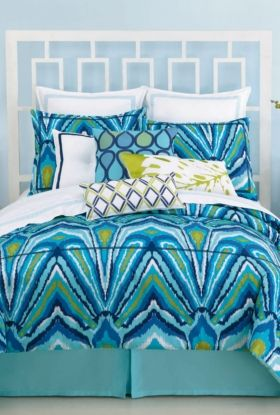 Trina just gets better and better! Peacock Comforter Set  Pool house here you come!! Yeah!
